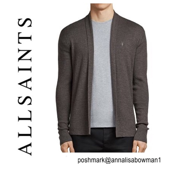 All Saints Other - ⭐️Men's ALL SAINTS Mode Merino Open Cardigan Small